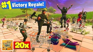 The WORLDS *BIGGEST* Shopping Cart Race In Fortnite Battle Royale!