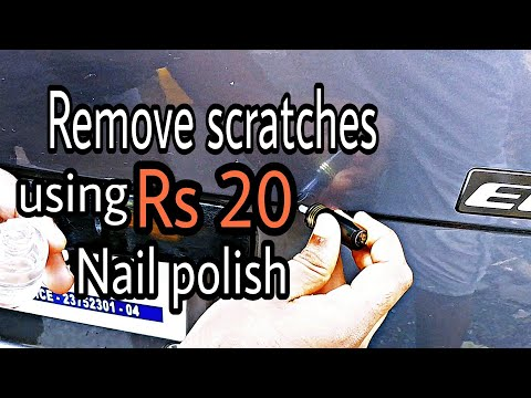 REMOVE MINOR SCRATCHES USING 20 RS NAIL POLISH| EFFECTIVE