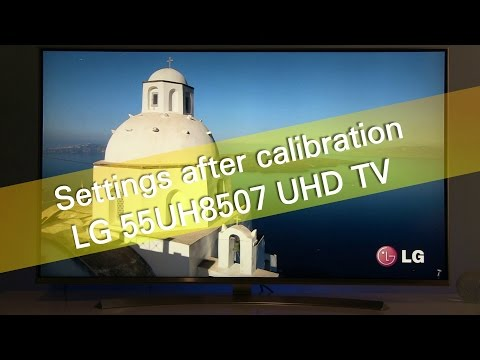 LG 55UH8507 UH8500 UHD TV settings after calibration - ClipMega com