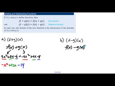 4.3 Example 3 Adding and Subtracting Functions