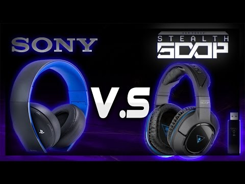 Turtle Beach Stealth 500p Vs Sony Gold Wireless Headsets | Product Review | Headset Comparison | PS4