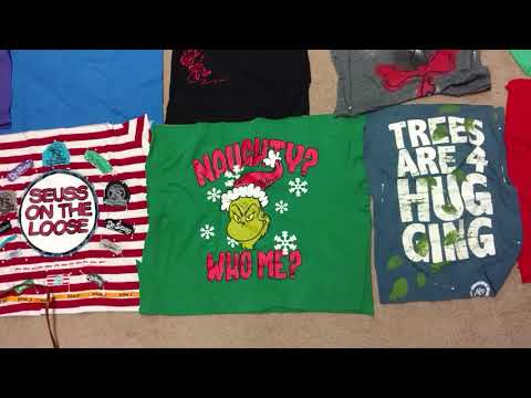 T-Shirt QUILT How To Make One - This is Dr Seuss Part 2