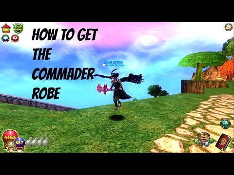 wizard101 how to get the commander robe without ranking or tickets