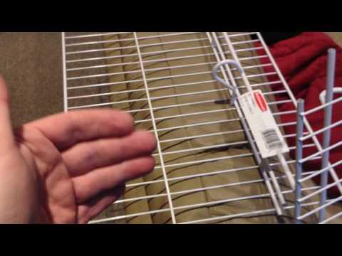 Unready ready-to-install wire shelf