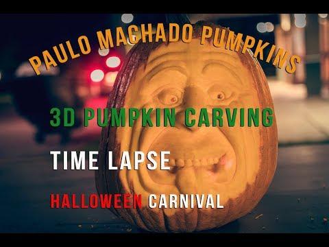 Paulo Machado 3D Pumpkin Carving - Halloween Carnival
