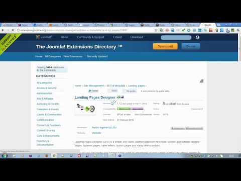 Creación de Landing Pages con Joomla