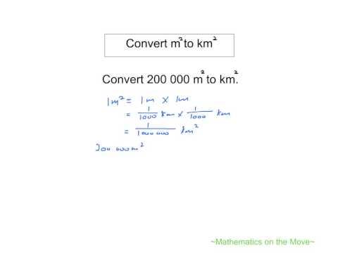 Convert square metre to square kilometre