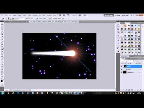 Photoshop CS5: Create a Comet / Shooting Star Part.1