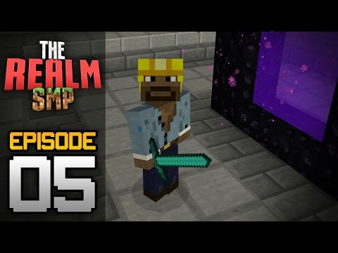 Realms Multiplayer Survival Ep. 5 - NETHER HUB DISASTER! - Minecraft PE (Pocket Edition)