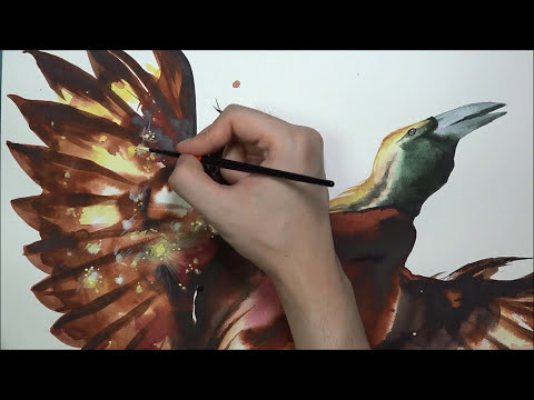 [Watercolor] Solar Flare X Bird of Paradise