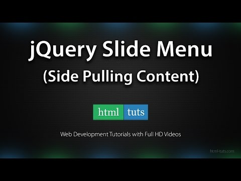 Create a jQuery Slide Menu (Side Pulling Content)