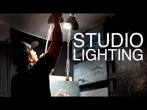 STUDIO LIGHTING / How to light your Art Studio on a BUDGET!