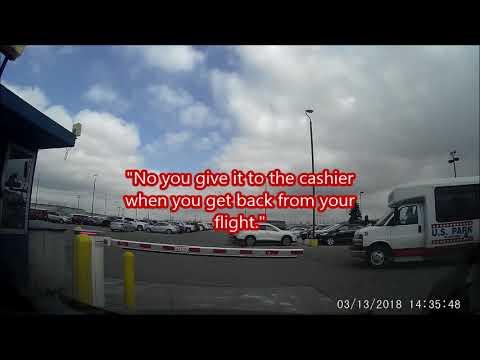 US Park @ DTW Review (Dash Cam Footage) Off-Site Long Term Parking