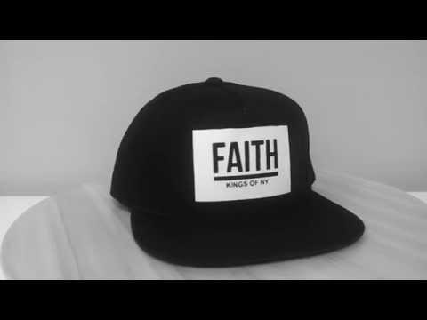 Faith Black Snapback Hat by Kings Of NY