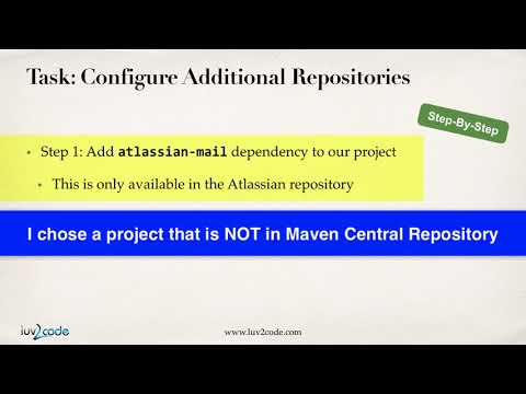 Maven Tutorial #12 - Additional Repositories Overview