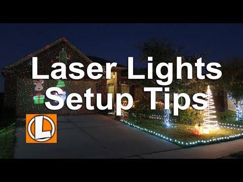 Star Shower Christmas Laser Lights | Slide Show Projector Setup, Tips, Security, Testing and Footage