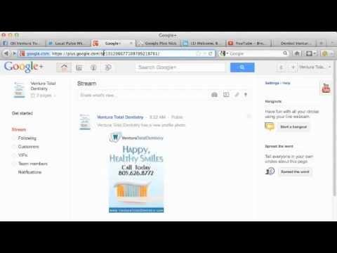 Google Plus Custom Vanity URL: Google+ Custom Vanity URL Video