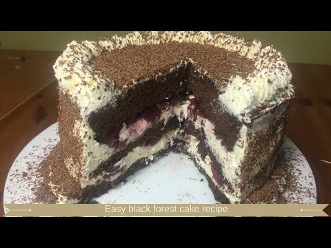 Easy black forest cake recipe : Black forest gateau recipe
