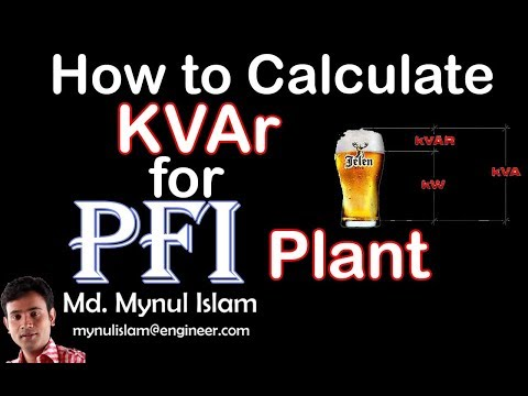 How to Calculate KVAr rating of Capacitor Bank|KVAr Calculation for PFI Plant|Bangla|Md. Mynul Islam