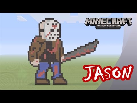 Minecraft: Pixel Art Tutorial and Showcase: Jason Voorhees (Friday the 13th)