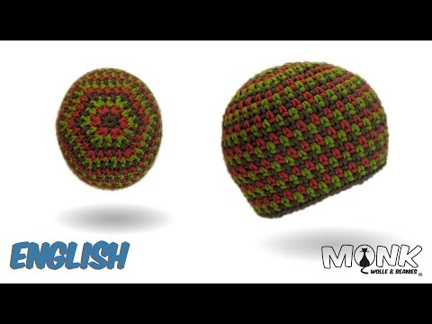Crochet hat - Moss Stitch Beanie No. 2 - Tweed Style