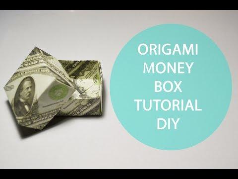 Origami Money Box Tutorial DIY Dollar Gift