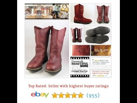 Fin and Fur Boots Mens Brown Leather Size 9.5 USA Wellington - Mens ... cb99bf99c