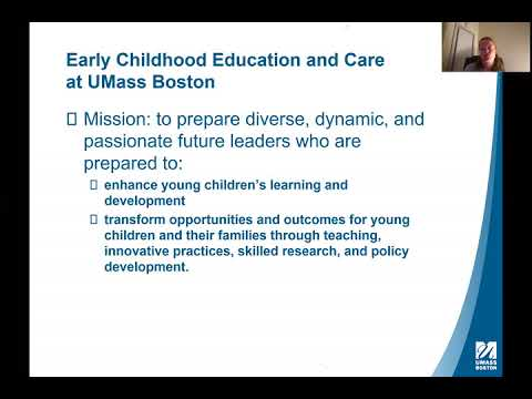 UMass Boston PhD in Early Childhood Education and Care Informational Webinar