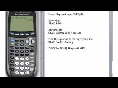 Linear Regression on a TI-83 and TI-84