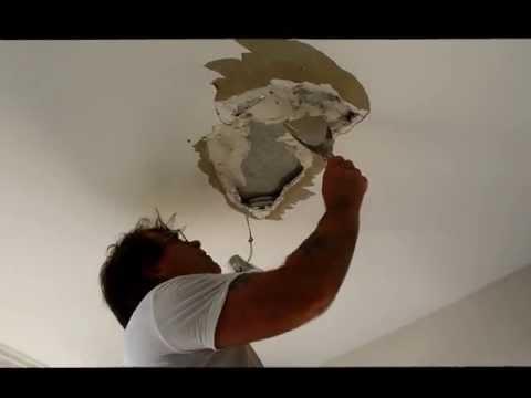 Plaster Repairs Hole in Ceiling Repair