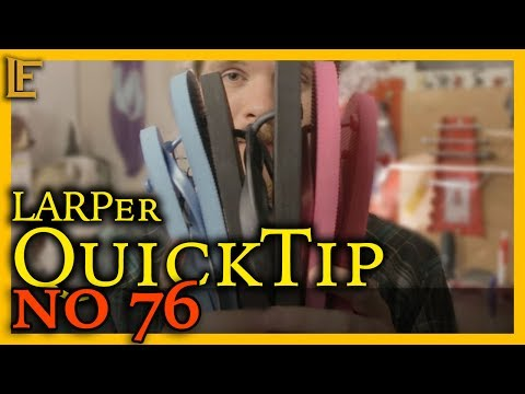 Sandals and foam throwing knives - LARPer QuickTip no 76