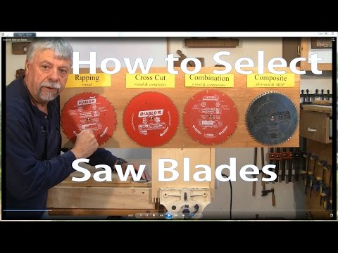 How to Select Table Saw Blades:  Woodworking for Beginners #2 -  Woodworkweb
