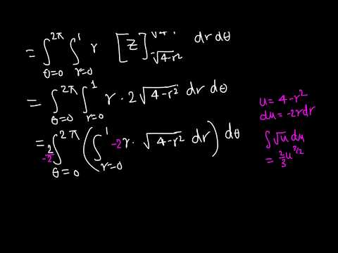 Calc III: Triple Integrals in Cylindrical Coordinates example 5/6