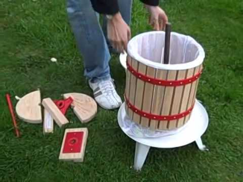 How to make Apple Juice using a Fruit Press and Crusher