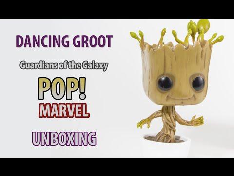 Pop! MARVEL / Dancing Groot Bobble-Head / Unboxing 4K