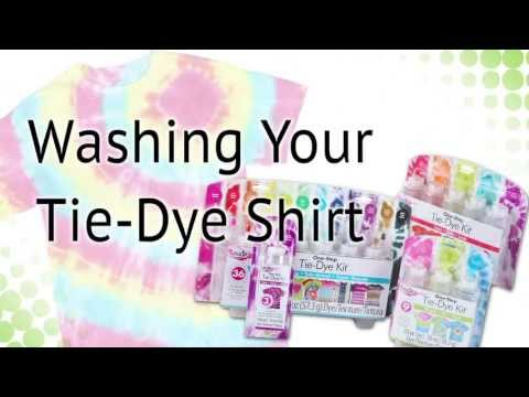 How-to Wash Tie Dye