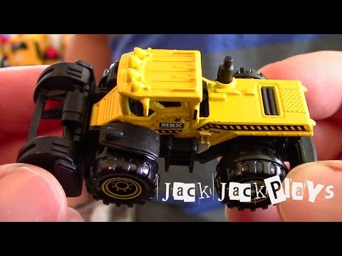 Matchbox truck unboxing and play | MBX Construction Dirt Smasher