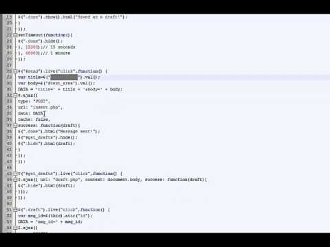 PHP and jQuery Tutorial (Draft auto save Part 1)