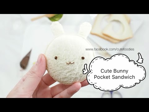 How to make cute bunny sandwich