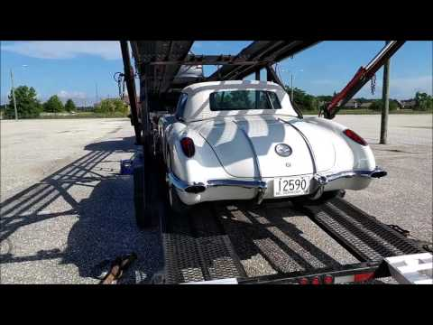 1958 Corvette Transport Video:  AL to FL