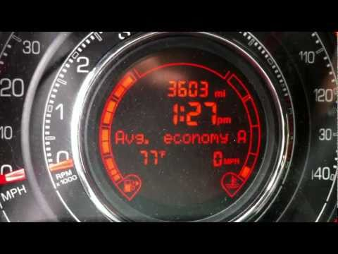 2012 Fiat 500 Real-world Fuel Economy