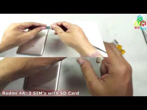Xiaomi Redmi 4A: 2 SIMs with micro SD Card at Same Time