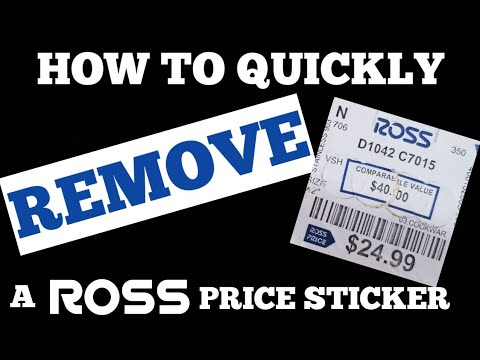 How to quickly and easily remove a Ross price STICKER without leaving a residue!!!!