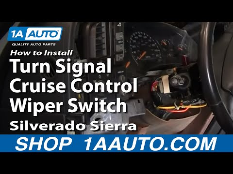 How To Install Replace Turn Signal Cruise Control Wiper Switch Silverado Sierra 99-02 1AAuto.com