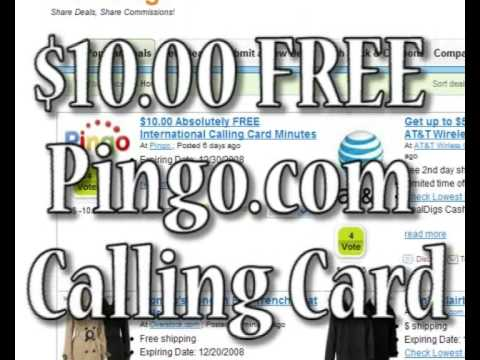 $10.00 Absolutely FREE International Calling Card Minutes
