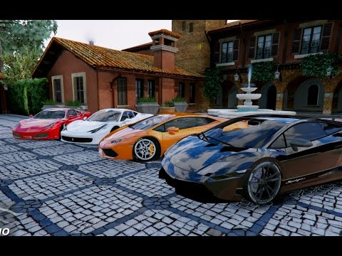 GTA V | LAMBORGHINI HURACAN & GALLARDO VS. FERRARI 458 ITALIA & F430 | GTA 5 MOD