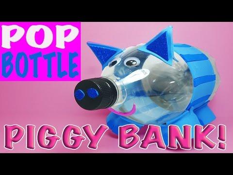 DIY: HOW TO MAKE A HOMEMADE POP BOTTLE PIGGY BANK!