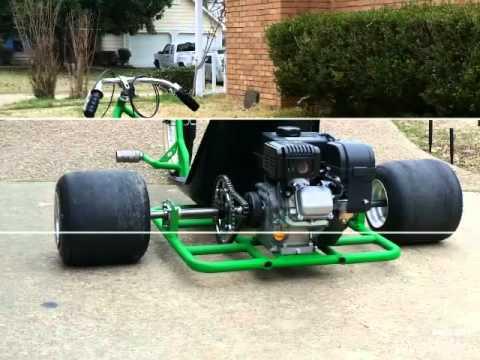 Building Drift trike motorized 212cc predator go cart tire