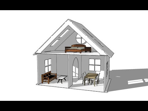 Learn How To Design doll house For Laser Cutting in sketchup