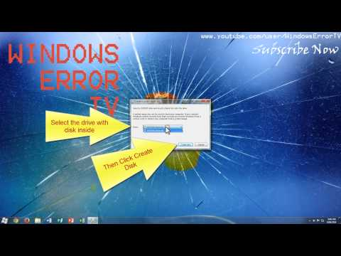 Create a System repair disk in windows [4K]